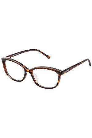 Loewe Unisex dla dorosłych VLWA06M530NVQ oprawki okularów, brązowe (Shiny Beige+Havana), 55