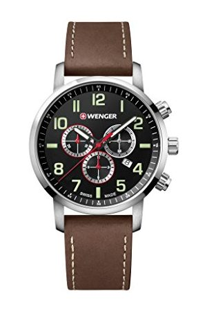 Wenger Unisex zegarek na rękę dla dorosłych chronograf kwarcowy skóra 01.1543.103