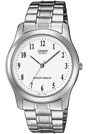 Casio Mężczyzna Zegarki - Męski analogowy zegarek kwarcowy z bransoletką ze stali nierdzewnej MTP-1128PA-7BEF