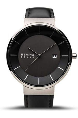 Bering Męski analogowy zegarek kwarcowy ze skórzanym paskiem 14639-402