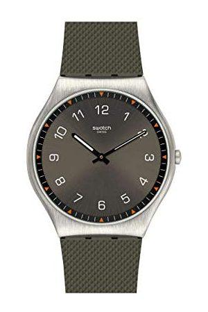 Swatch Mężczyzna Zegarki - Męski analogowy szwajcarski zegarek kwarcowy z kauczukową bransoletką SS07S103