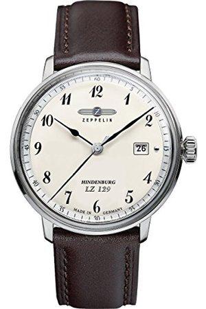 Junkers Mężczyzna Zegarki - Zeppelin męski zegarek na rękę Hindenburg analogowy kwarcowy skóra 70464