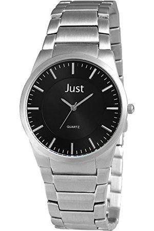 Just Watches Męski zegarek na rękę XL analogowy kwarcowy stal szlachetna 48-S7953-BK