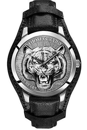 Thomas Sabo Męski analogowy zegarek kwarcowy ze skórzaną bransoletką WA0367-203-201-42 mm