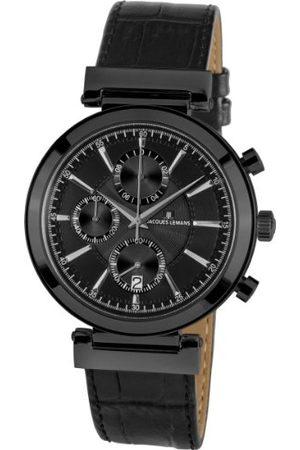 Jacques Lemans Classic męski zegarek na rękę XL Verona chronograf skóra 1-1699C