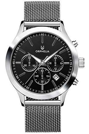 ORPHELIA Mężczyzna Zegarki - Męski chronograf zegarek na rękę Harmony stal szlachetna bransoletka srebro