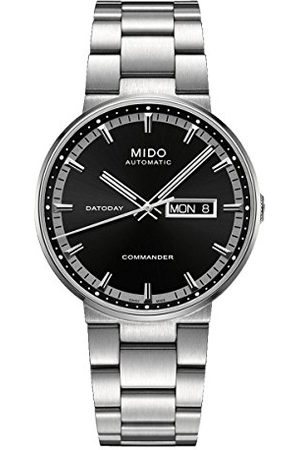 MIDO Męski zegarek na rękę XL Commander II analogowy automatyczny stal szlachetna M0144301105180