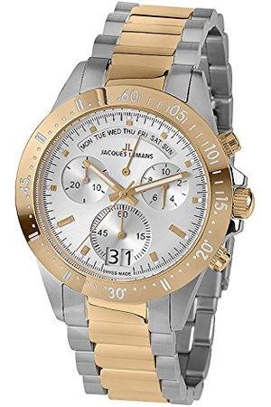 Jacques Lemans Męski analogowy zegarek kwarcowy z bransoletką ze stali szlachetnej 40-10C