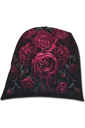 Spiral Blood Rose - lekkie bawełniane czapki typu beanie czarne, jeden (rozmiar: jeden rozmiar)