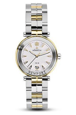 Michel Herbelin Unisex Dorośli Analogowy zegarek z bransoletką ze stali szlachetnej 14285/BT11