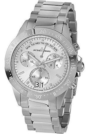 Jacques Lemans Męski analogowy zegarek kwarcowy z bransoletką ze stali szlachetnej 40-10A