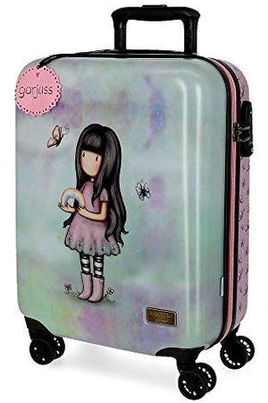 Gorjuss Dziewczynka Walizki - Santoro Somewhere walizka kabinowa, wielokolorowa, 37 x 55 x 20 cm, z twardego tworzywa ABS, zamek TSA, 33 l, 2,6 kg, 4 podwójne koła, bagaż podręczny