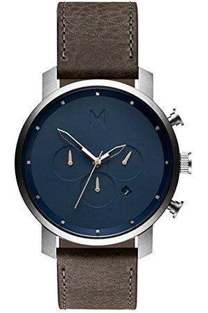 MVMT Męski analogowy zegarek kwarcowy ze skórzanym paskiem ze skóry cielęcej D-MC01-SGR