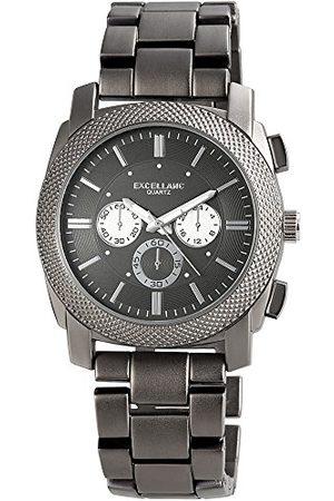 Excellanc Męski analogowy zegarek kwarcowy z różnymi materiałami bransoletka 28097100002