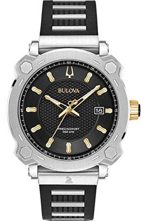 BULOVA Męski analogowy zegarek kwarcowy z paskiem silikonowym 98B319