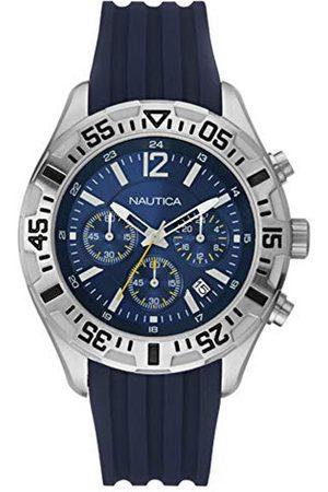 Nautica Męski analogowy zegarek kwarcowy z silikonowym paskiem 8.4341E+12