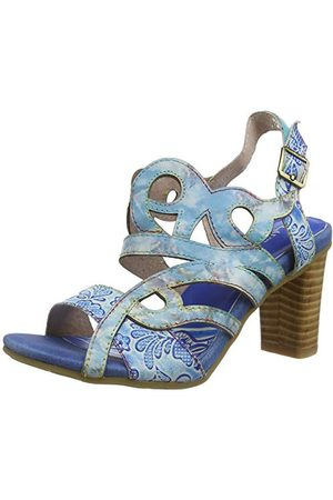 LAURA VITA Sandały dziewczęce Facnnyo 05 Peeptoe, - Niebieska Bleu Bleu - 35 EU