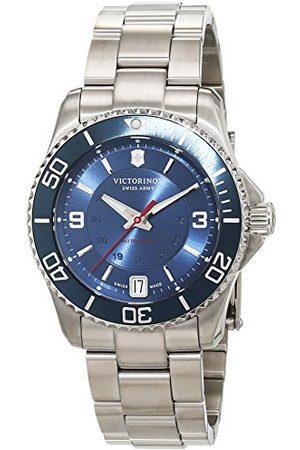 Victorinox Mężczyzna Zegarki - Męski analogowy automatyczny zegarek z bransoletką ze stali szlachetnej 241709