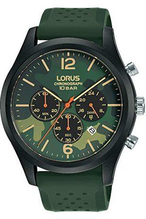Lorus Mężczyzna Zegarki - Sport męski zegarek chronograf stal szlachetna i tworzywo sztuczne z paskiem silikonowym RT399HX9