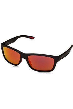 Smith Męskie okulary przeciwsłoneczne Harbour Uz 003 58, czarne (Matt Black/Red Fl)