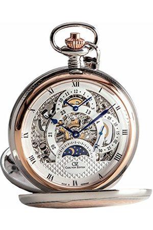 CARL VON ZEYTEN Męski szkieletowy zegarek mechaniczny z bransoletką ze stali szlachetnej CVZ0040RSL