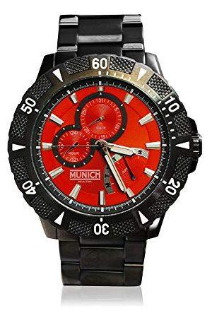 Munich Unisex dla dorosłych analogowy zegarek kwarcowy z bransoletką ze stali szlachetnej MU+104.1B
