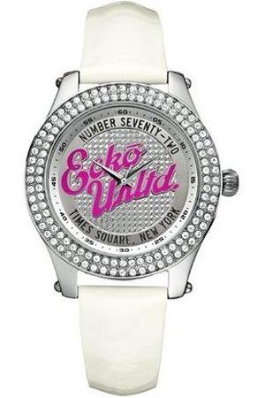 Marc Ecko Kobieta Zegarki - Damski analogowy zegarek ze skórzanym paskiem E10038M2