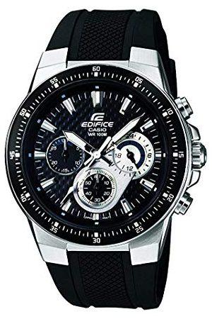 Casio Edifice męski zegarek na rękę EF-552-1AVEF, , masywna obudowa ze stali szlachetnej i bransoletka z żywicy, 10 bar bransoletka