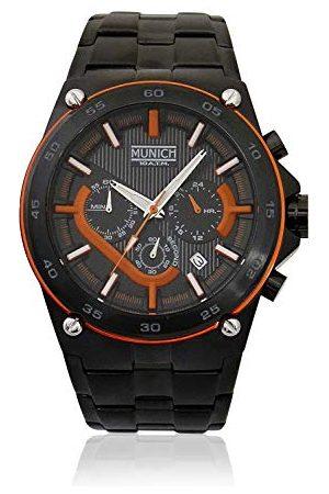 Munich Unisex dla dorosłych analogowy zegarek kwarcowy z bransoletką ze stali szlachetnej MU+141.1B