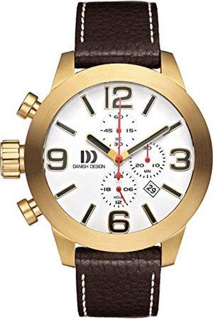 Danish Design Męski analogowy zegarek kwarcowy ze skórzanym paskiem IQ15Q916
