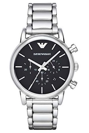 Emporio Armani Męski zegarek Luigi chronograf z mechanizmem kwarcowym Bransoletka Jeden rozmiar