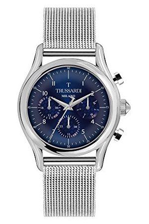 Trussardi Mężczyzna Zegarki - Męski multicyferblat kwarcowy zegarek z bransoletką ze stali szlachetnej R2453127005