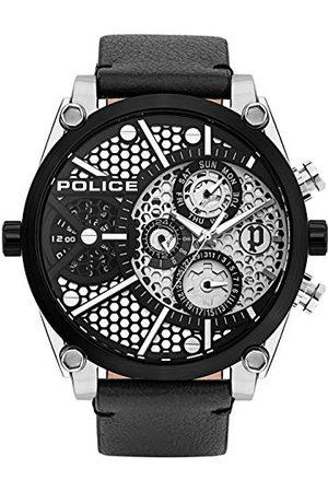 Police Zegarki - Unisex Dorośli Analogowy zegarek kwarcowy ze skórzanym paskiem PL15381JSTB.04A