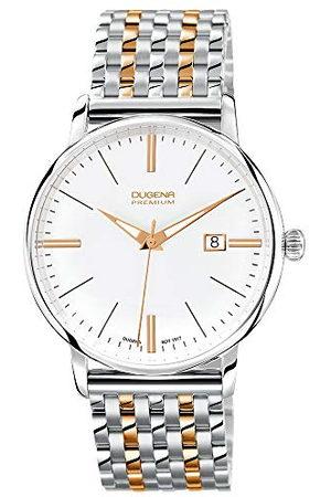 DUGENA Męski zegarek na rękę Festa - Traditional Classic Analog Kwarcowy Stal szlachetna 7090167