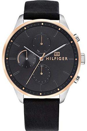 Tommy Hilfiger Uniseks - dorosły wielofunkcyjny zegarek kwarcowy ze skórzanym paskiem 1791488