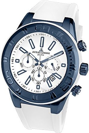 Jacques Lemans Męski chronograf kwarcowy Smart Watch zegarek na rękę z silikonowym paskiem 1-1820J