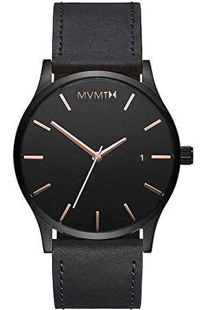 MVMT Mężczyzna Zegarki - Męski analogowy zegarek kwarcowy ze skórzanym paskiem D-MM01-BBRGL