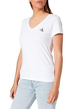 Calvin Klein Kobieta Bluzki - Damska koszulka z monogramem Slim dekolt w serek