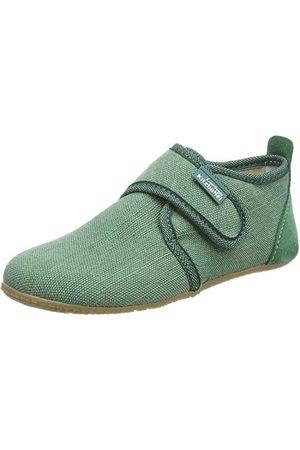 Living Kitzbühel Dziecięce buty na rzep, jednokolorowe kapcie, zielony - kaktusowy - 28 EU