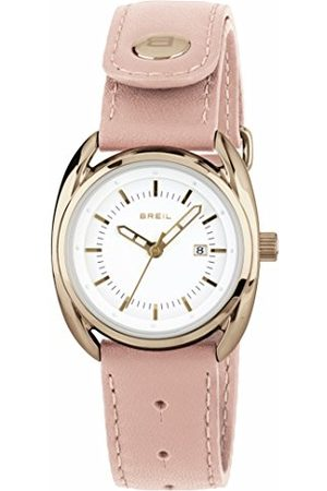 Breil Kobieta Zegarki - Damski analogowy zegarek kwarcowy ze skórzanym paskiem TW1596