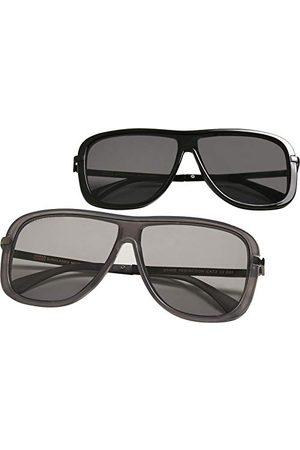 Urban classics Unisex Sunglasses Milos 2-pak okulary przeciwsłoneczne, czarne/czarne i szare, jeden rozmiar (2 sztuki)