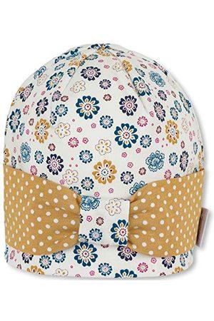 Sterntaler Dziewczynka Czapki - Czapka beanie dla dziewczynek z wzorem w kropki/kwiatki