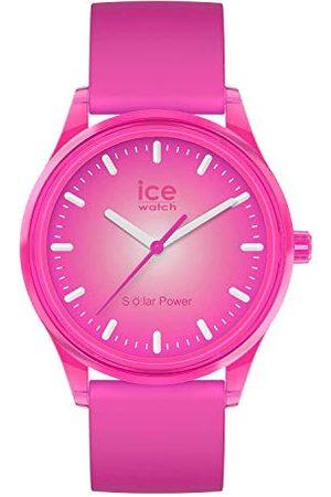 Ice-Watch ICE solar power Indian summer - różowy zegarek damski z silikonowym paskiem - 017772 (Medium)