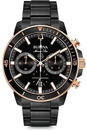 BULOVA Mężczyzna Zegarki - Męski zegarek kwarcowy Chronograf z paskiem ze stali nierdzewnej 98B302
