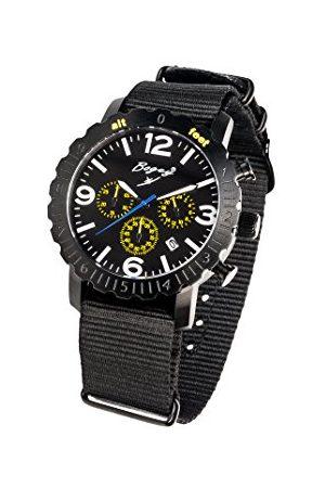 BOGEY Męski chronograf kwarcowy zegarek z gumową bransoletką BSFS004YLBK