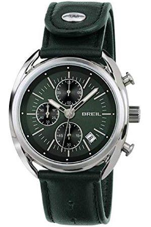 Breil Mężczyzna Zegarki - Męski chronograf kwarcowy zegarek ze skórzanym paskiem TW1515