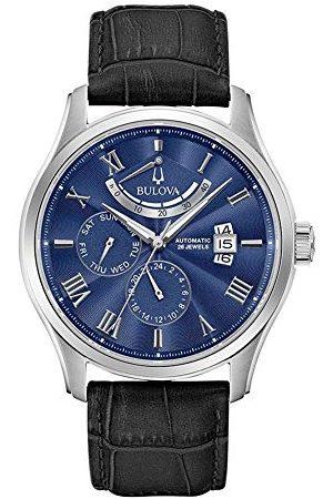 BULOVA Męski analogowy zegarek automatyczny ze skórzanym paskiem 96C142