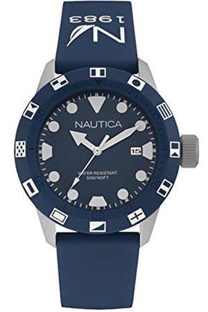 Nautica Męski analogowy zegarek kwarcowy z silikonowym paskiem NAI09511G