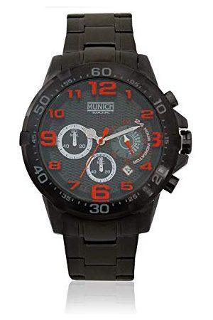 Munich Zegarki - Unisex dla dorosłych analogowy zegarek kwarcowy z bransoletką ze stali szlachetnej MU+139.1A