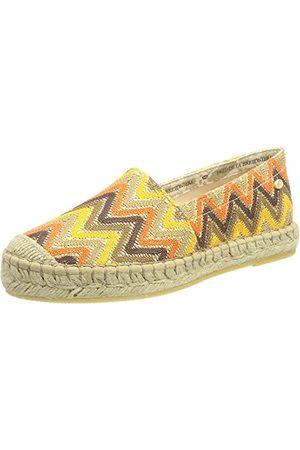 Fred de la Bretoniere Damska bluza Frs0030 Loafer, Brown Color Blocking - 38 EU